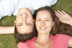 Overhead View Of Young Couple Stock Images