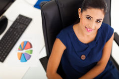 Overhead office worker Royalty Free Stock Photo
