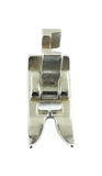 Overhead view zigzag foot. A good overhead view of the popular zigzag presser foot Royalty Free Stock Photos