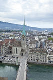 Overhead view of zurich Royalty Free Stock Image