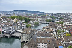 Overhead view of zurich. Switzerland royalty free stock images