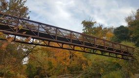 Overhead walking bridge royalty free stock photos
