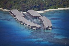 Overhead Water Villas Royalty Free Stock Photography