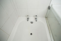Overhead of white bath tub Stock Photos