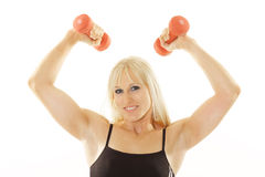 Overhead workout. Isolated on white Royalty Free Stock Images