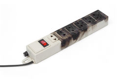 Overheat surge protector Royalty Free Stock Images