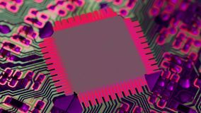 Computer chip. A Overheated computer chip close up stock video footage