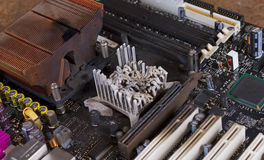 Overheated computer part Stock Photo
