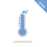 Overheated icon Royalty Free Stock Images