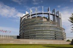 Overheid de bouw van de Europese Unie in Straatsburg Stock Foto