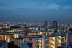 Overheidshuisvesting in Singapore Stock Afbeelding