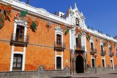 Overheidspaleis I, Tlaxcala Stock Foto's