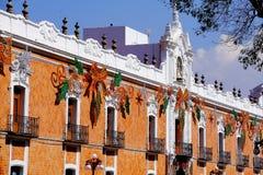 Overheidspaleis II, Tlaxcala Stock Afbeeldingen