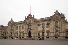 Overheidspaleis in Lima, Peru stock foto
