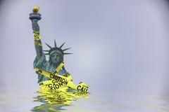 Overheidssluitingen in de Verenigde Staten stock fotografie
