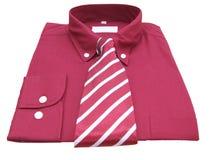 Overhemd en band met het knippen van weg Stock Afbeelding