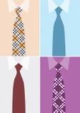 Overhemd en stropdas in versie vier Stock Afbeeldingen