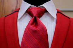 Overhemd, kraag, band en vest stock fotografie