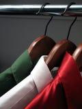Overhemden die Italiaanse vlag vertegenwoordigen Royalty-vrije Stock Foto