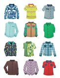 Overhemden voor jongens Royalty-vrije Stock Foto