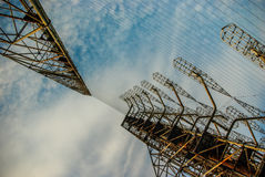 Overhorizon anteny szyk DUGA w Chernobyl strefie Zdjęcie Royalty Free