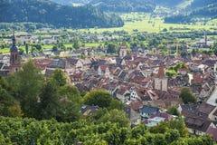 Overiew della città di Gengenbach Immagini Stock