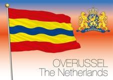 Overijssel regional flag, Netherlands, European union Stock Photo