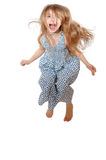 Overjoy o salto Fotografia de Stock