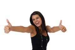 Overjoyed beautiful woman Stock Photos