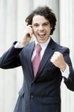 Overjoyed Businessman Stock Photo
