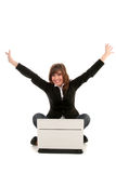 Overjoyed businesswoman Stock Images