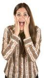 Overjoyed European Woman Stock Images