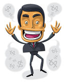 Overjoyed with success businessman Royalty Free Stock Image