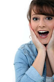 Overjoyed woman Stock Images