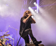 Overkill metal band live concert 2016 Hellfest Royalty Free Stock Photography