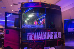 Overkills The Walking Dead VR-experience RV bus Stock Image