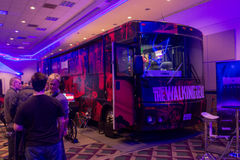 Overkills The Walking Dead VR-experience RV bus Stock Images
