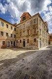 Overklig byggnad i Venedig, Italien Arkivbild