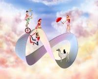 Overklig cirkus royaltyfri illustrationer