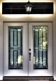 overklig dubbel främre hdr för dörr Arkivfoto