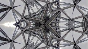 Overklig effekt av metallbrostrukturer stock illustrationer