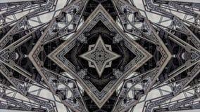 Overklig effekt av metallbrostrukturer royaltyfri illustrationer