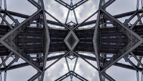 Overklig effekt av metallbrostrukturer vektor illustrationer