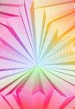 Overklig illusionkonst f?r vektor f?r designen, linje dimensionellt texturerat inre utrymme f?r konst 3d, tema f?r hallucinogendr vektor illustrationer