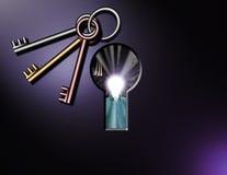 overklig keyhole Vektor Illustrationer