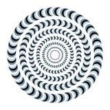 Overklig och hypnotisk optisk illusion Idérik trick- och nystagmusvektorillustration vektor illustrationer
