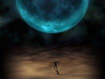 Overklig planetbild stock illustrationer