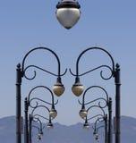 overkliga lampposts arkivbilder