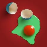 Overkligt rått ägg Arkivfoto