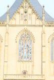 Overkoepeld venster van Kathedraal van St Barbara royalty-vrije stock foto's